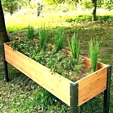 raised garden bed on legs with wonderful building plans for beds a g ideas build planter box