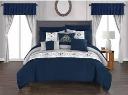 queen size comforter set shams bedskirt