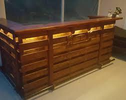 pallet bar for sale. the captain ~ pallet bar / tiki ( holiday sale ) walk behind l shape for