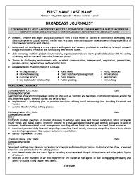 Journalist Resume Inspiration Broadcast Journalist Resume Template Premium Resume Samples Example