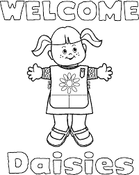 Free Daisy Girl Scout Promise Coloring Pages Printable Baby