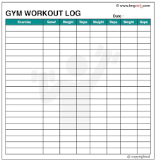 Workout Table Template Gym Schedule Template Printable Schedule Template