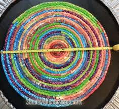 rope rug fbric weaving patterns climbing circle hand crochet tutorial