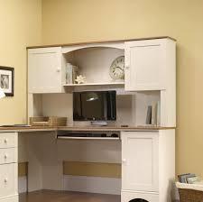 Furniture: White L-shaped Computer Desk With Hutch Ideas - White Corner  Computer Desk
