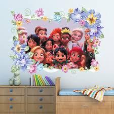 disney princess flower wall sticker art