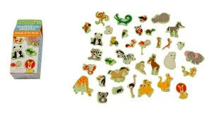 Click to Enlarge Wooden Animal Magnets