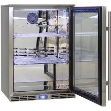 rhino outdoor bar fridge using german ebm fans and italian carel controller