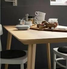 Table Lisabo Ikea Plaqué Frêne Nordique Design Moderne Cuisine