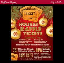 Raffle Event Christmas Raffle Tickets 50 50 Flyer Holiday Seasonal Raffle Event