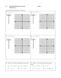 worksheets graphing quadratic functions worksheets tokyoobserver