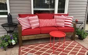 medium size of ana white patio furniture 2x4 outdoor sofa with red cushions ana white annas