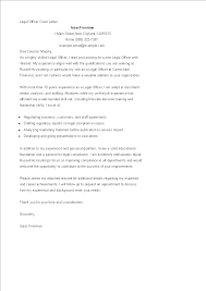 Compliance Officer Cover Letter Legal Officer Cover Letter Templates At