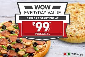 Pizza Mania Size Chart Pizza Hut Now Starting Rs 99 Order Pizzas Online For
