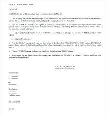 Example Of Office Memorandum Letter Sample Of Office Memorandum Letter Magdalene Project Org