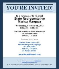 Political Fundraising Invitations Fundraiser Invites
