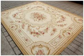 aubusson rug 8x10 country french earth tones