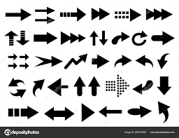 Vector Set Arrow Shapes Isolated White Stock Vector Natalipopova