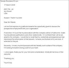 Thank You Letter Sample After Second Interview - Cover Letter ... Thank You Letter After Second Interview