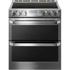 lg signature 7 3 cu ft smart wi fi enabled electric double oven slide