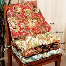 wooden chair with stylish cushion in diffe color