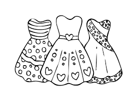 Small Picture Cool Dresses For Girls Coloring Page Printable Free At Free