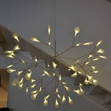 leaves modern pendant light fixtures simple fabulous whtie chandelier hanging popular aliexpress staircase