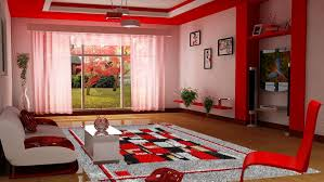 wonderful red living room walls decor grey wool modern rug red melamine modern chair white