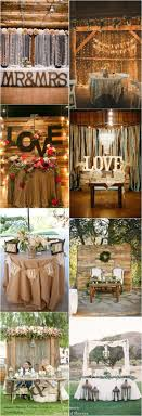Rustic country wedding ideas - rustic sweetheart table decor for wedding  reception / http:/