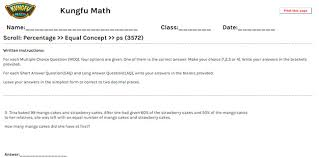 Math Grade 5 Percentage Worksheets and Resources - Singapore Mathgrade Five percentage