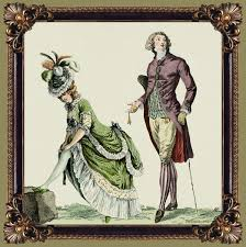 my fanciful muse late th century french fashions   trying not to peek by using vintage 18th century fashion plates
