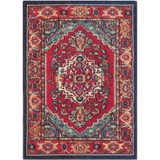 safavieh monaco red turquoise 3 ft x 5 ft area rug