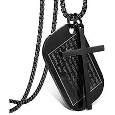 jstyle stainless steel dog tags cross necklaces for men prayer military rolo 3mm