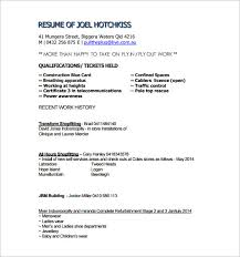 Carpenter Resume Extraordinary Carpenter Resume Template 28 Free Word Excel PDF Format Download