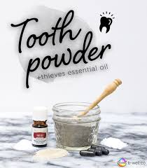 easy effective tooth powder thieves essential oil