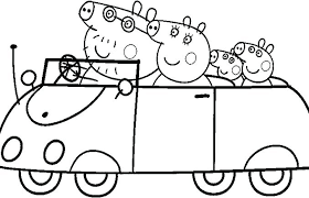 Print Out Pages Peppa Pig Colouring Sheets Printable Pig Coloring