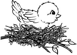 bird nest clipart black and white. Interesting Clipart Chick In Nest Clip Art At Clker Intended Bird Clipart Black And White I