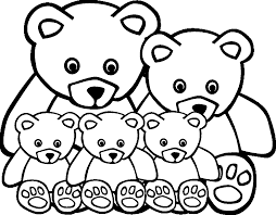 Animal Family Coloring Page Many Interesting Cliparts