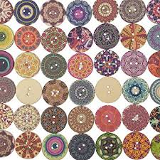 Corasays <b>100pcs</b> Mixed Random <b>Round</b> Shaped <b>2 Holes</b> Wooden ...
