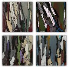 saatchi art artist k shoa painting original painting set of 4 gray green