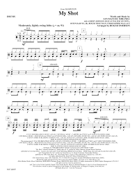 drums sheet music my shot drums sheet music at stantons sheet music