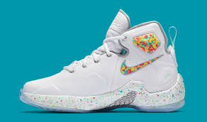 lebron shoes fruity pebbles. these cereal-flavored lebron james sneakers are available now. the fruity pebbles lebron shoes t