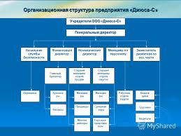 Презентация на тему Дипломная работа Пересыпкиной Людмилы  4 Организационная структура предприятия