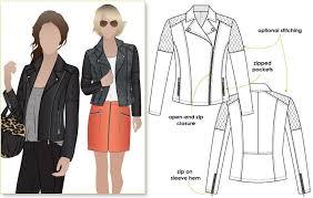 Coat Sewing Patterns Adorable Ziggi Jacket Style Arc