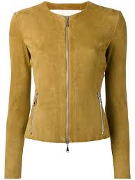 drome collarless jacket 5038 khaki women clothing leather jackets drome fur shearling coats 100