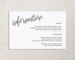 Wedding Enclosure Card Template Wedding Enclosure Card Details Card Information Card Etsy