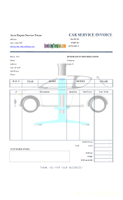 car service receipt auto repair invoice template