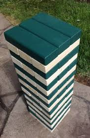 Lawn Game With Wooden Blocks Jumbo Wood Blocks Game Wooden Blocks Giant jenga game Corporate 32