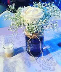 Decorating With Mason Jars For Baby Shower Mason jar centerpieces Baby breath in mason jar Baby shower 40