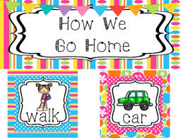 How We Go Home Chart Printable Bright Colors How We Go Home Printable Chart Classroom Management