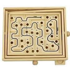 Wooden Games For Adults Simple Amazon Micord Original Wooden Labyrinth Puzzle Solitaire Maze